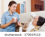 adult daughter caring for a... | Shutterstock . vector #173019113