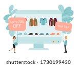 online shop discount market ... | Shutterstock .eps vector #1730199430