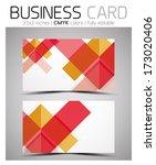 vector business card design... | Shutterstock .eps vector #173020406