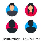 male and female user profile.... | Shutterstock .eps vector #1730231290