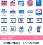 movie theater icons including... | Shutterstock .eps vector #1730236006