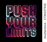 push your limits gradient... | Shutterstock .eps vector #1730237920