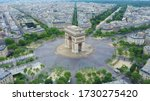 World famous arc de triomphe at ...