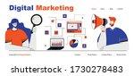 digital marketing web site page ... | Shutterstock .eps vector #1730278483