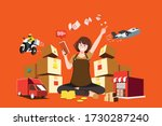 new trader succeeding in the...   Shutterstock .eps vector #1730287240