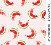 seamless pattern of watermelon... | Shutterstock .eps vector #1730289769