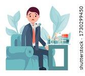 male character flu  businessman ...   Shutterstock .eps vector #1730299450