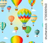 colorful airballoon  pattern ... | Shutterstock .eps vector #1730300563