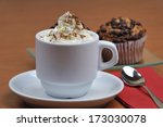 viennese coffee with cinnamon... | Shutterstock . vector #173030078
