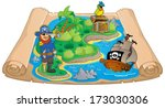 treasure map topic image 7  ... | Shutterstock .eps vector #173030306