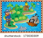 treasure map topic image 8  ... | Shutterstock .eps vector #173030309