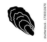 Oyster Black Glyph Icon. Common ...