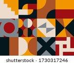 vector bauhaus pattern... | Shutterstock .eps vector #1730317246