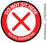 do not sit here to prevent from ... | Shutterstock .eps vector #1730323636