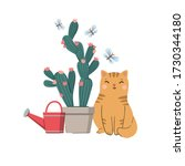 Vector Illustration With Cat ...