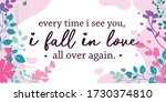 love quotes i fall in love... | Shutterstock .eps vector #1730374810