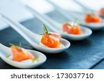 extreme close up of smoked... | Shutterstock . vector #173037710
