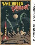 weird planet mid century modern ... | Shutterstock .eps vector #1730388070