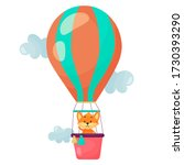 vector cartoon air balloon... | Shutterstock .eps vector #1730393290