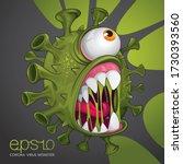 Stop Virus. Monster Virus Covid....
