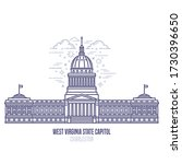 west virginia state capitol... | Shutterstock .eps vector #1730396650