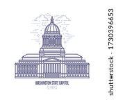 washington state capitol... | Shutterstock .eps vector #1730396653