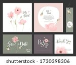 wedding invitation design set.... | Shutterstock .eps vector #1730398306