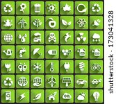 ecology icons on square buttons.