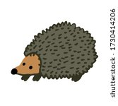 hand drawn adorable hedgehog... | Shutterstock .eps vector #1730414206