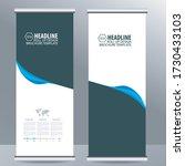 roll up business brochure flyer ... | Shutterstock .eps vector #1730433103