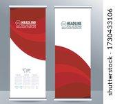 roll up business brochure flyer ... | Shutterstock .eps vector #1730433106