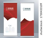 roll up business brochure flyer ... | Shutterstock .eps vector #1730433109
