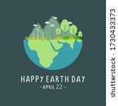 happy earth day celebration... | Shutterstock .eps vector #1730433373