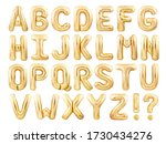 Alphabet balloons font made of...