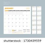 monthly planner for 2021 year.... | Shutterstock .eps vector #1730439559