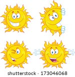 sun cartoon mascot characters 3....