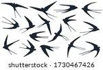 flyind swallows birds...   Shutterstock .eps vector #1730467426