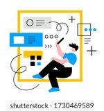 vector creative business... | Shutterstock .eps vector #1730469589