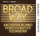 golden broadway light bulb