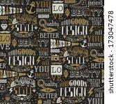 seamless  pattern of vintage... | Shutterstock .eps vector #173047478