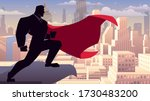 super businessman watching over ... | Shutterstock .eps vector #1730483200