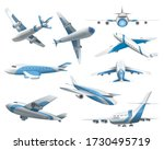 Airplanes On White Background....