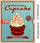 vintage cupcake poster design   Shutterstock .eps vector #173050310