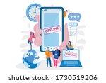 gadgets offline  vector... | Shutterstock .eps vector #1730519206