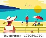 Family Seaside Leisure Relax....