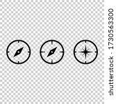 compass icon.navigation sign....