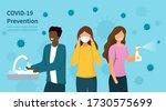 covid 19 or coronavirus... | Shutterstock .eps vector #1730575699