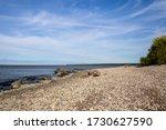 A rocky beach on Hecla Island
