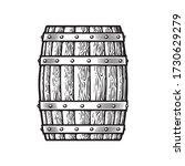 old wooden barrel in vintage... | Shutterstock .eps vector #1730629279