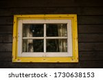 Vintage Window On Wooden Wall....